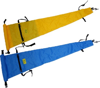 Paddle bags to protect your two piece paddle. Colors yellow or blue.