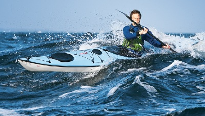nigl foster in action paddling the Whisky16 kayak